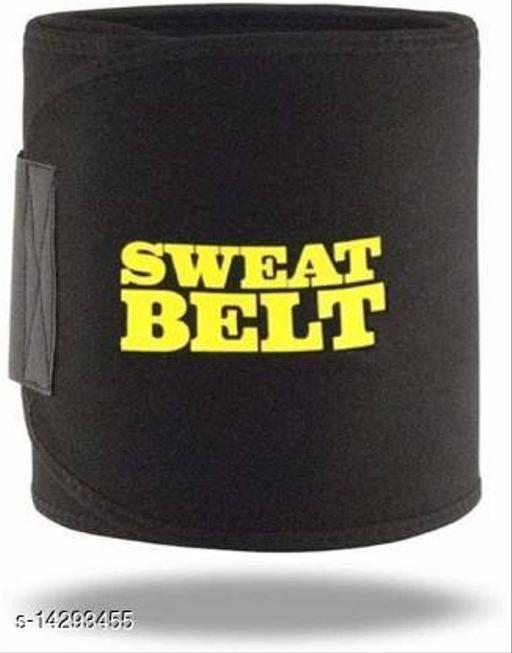 Shopeleven Sweat Waist Trimmer Fat Burner Belly Tummy Yoga Wrap Black Exercise Body Slimming Belt for Men & Women