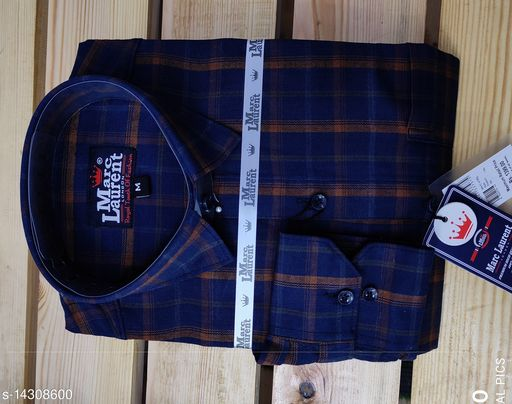 Trendy all weather comfy cotton check shirt