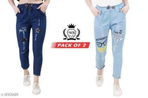 Trendy Graceful Women's Jeans