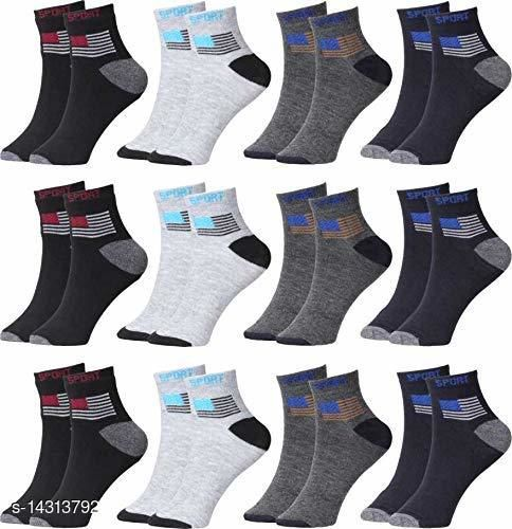 Unisex Sports Socks set of 12Pcs