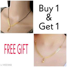 womens combo trendy necklaces and mangalsutras set