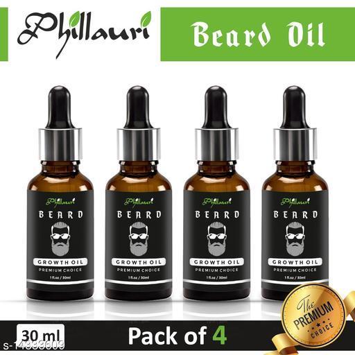 Beard oil 100% Effective in 15 days Herbal oil pack of 4
