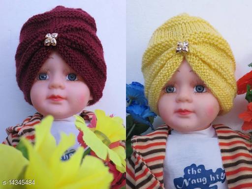 Fancy Turban cap Combo Maroon and Light Yellow
