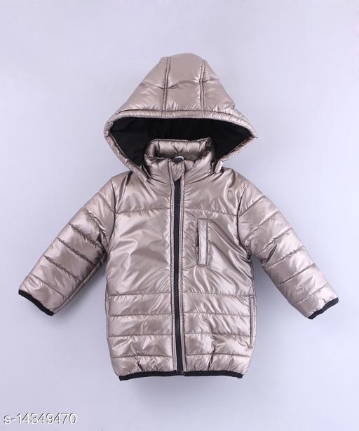 Beebay Boys Matte Metallic Jacket (Copper)