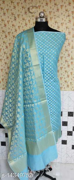 Banarsi Cotton Suit (6Aqua Blue)
