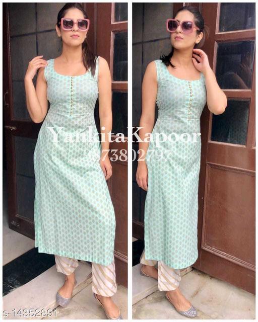 Shobhit Jaipur Rayon printed kurta and pant set