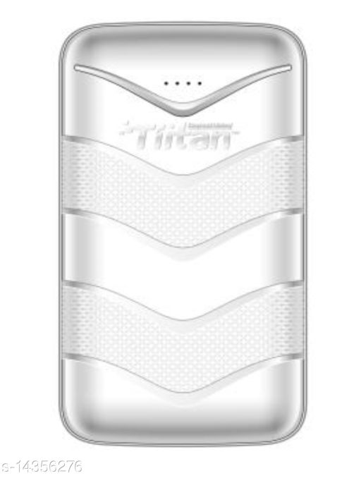 TIITAN 20400mAh Li-ion Power Bank (White) 1 Year Warranty with 1 Meter Type-C Data Cable Complementory