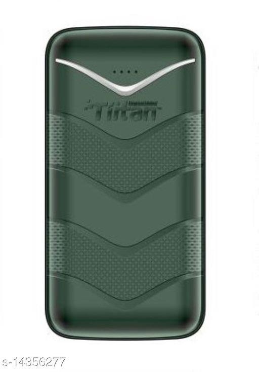 TIITAN 20400mAh Li-ion Power Bank (Green) 1 Year Warranty with 1 Meter Type-C Data Cable Complementory