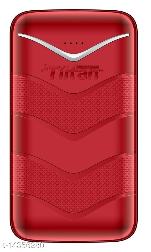 TIITAN 20400mAh Li-ion Power Bank (Red) 1 Year Warranty with 1 Meter Type-C Data Cable Complementory