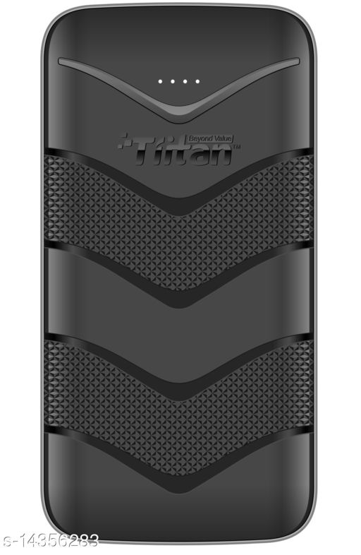 TIITAN 20400mAh Li-ion Power Bank (Black) 1 Year Warranty with 1 Meter Type-C Data Cable Complementory