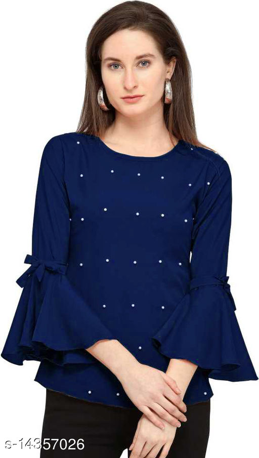 Trendy Collection Solid Rayon Casual Top For Women