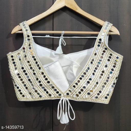 Designer heavy mirror work blouse
