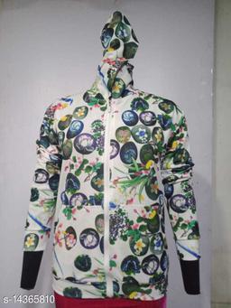 Carrel Women's Lycra Printed Hoodie Multicolour03 XL