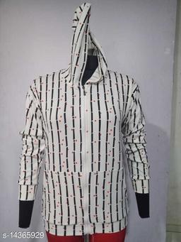Carrel Women's Lycra Printed Hoodie Cream M