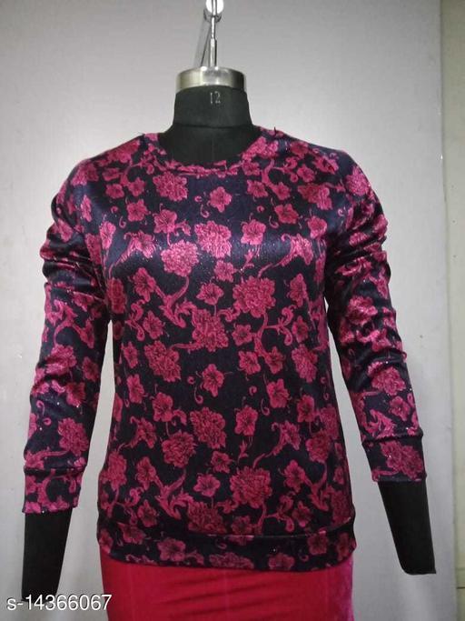 Carrel Women's Lycra Printed SweatshirtPink L