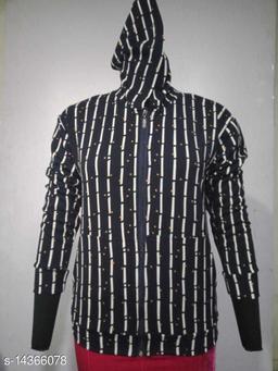 Carrel Women's Lycra Printed Hoodie Navyblue XL