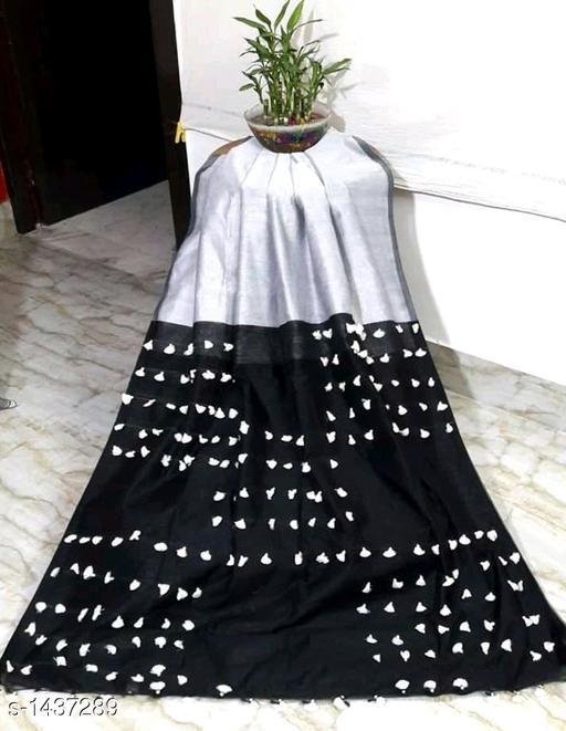 Sarees Attractive Khadi Cotton Saree  *Fabric* Saree - Khadi Cotton, Blouse - Khadi Cotton  *Size* Saree - 5.5 Mtr Blouse -0.8 Mtr  *Work* Pom - Pom  *Sizes Available* Free Size *   Catalog Rating: ★3.7 (176)  Catalog Name: Rheyali Embellished Khadi Khadi Cotton Sarees with Pom - Pom CatalogID_186333 C74-SC1004 Code: 305-1437289-