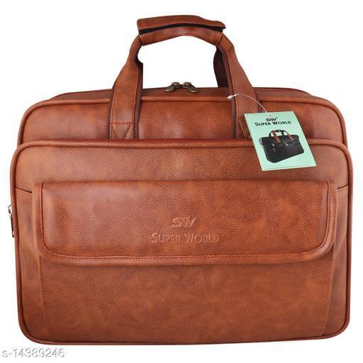 Classy Men's Rust Faux Leather/Leatherette Messenger Bags