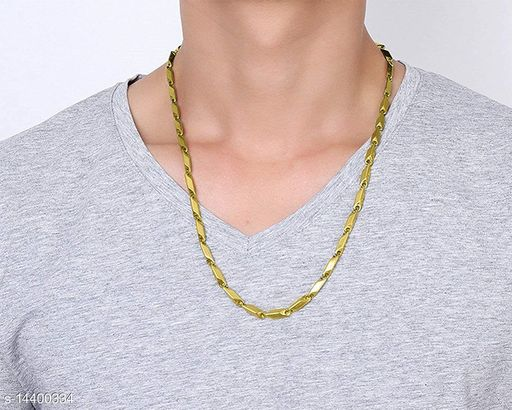 Stainless Steel Stylish Rice Chain for Men and Boys