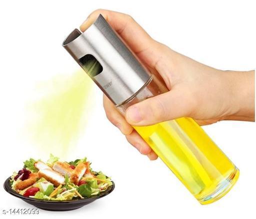 Oil Sprayer, Food Grade Stainless Steel Glass Oil Spray Bottle Vinegar Bottle Oil Dispenser for Cooking, Salad, BBQ, Kitchen Baking, Roasting