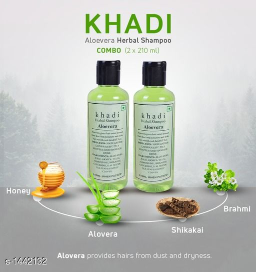 Khadi Aloevera Shampoo( Pack of 2 )