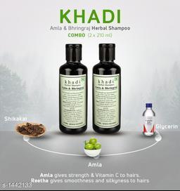 Khadi Amla & Bhringraj Shampoo (Pack of 2 )