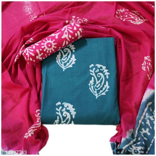 Authentic Batik Pattern Cotton Salwar Suits & Dress Materials