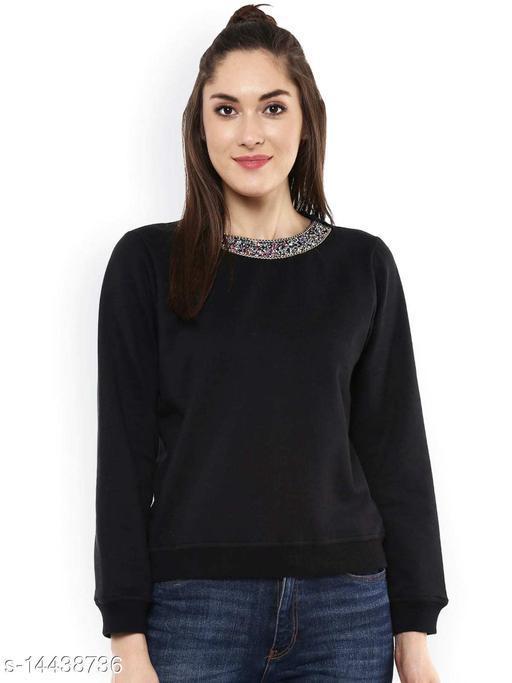 LOOKS18 Full Sleeve Solid Women Sweatshirt