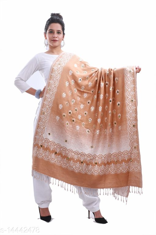 Devi Collection PolyWool Shawls For Womens And Girls