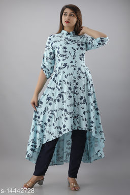 Woman's printed Anarkali kurta