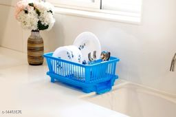 3 in 1 Large Sink Set Dish Rack Drainer Drying Rack Washing Basket with Tray for Kitchen, Dish Rack Organizers, Utensils Tools Cutlery