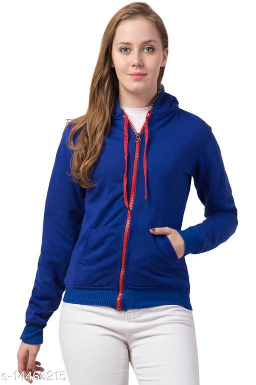 Retrobella Full Sleeve Solid Women Sweatshirt