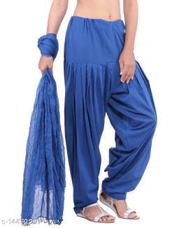 Craftmyntra Creations Women's Traditional Blue Cotton Salwar With Dupatta