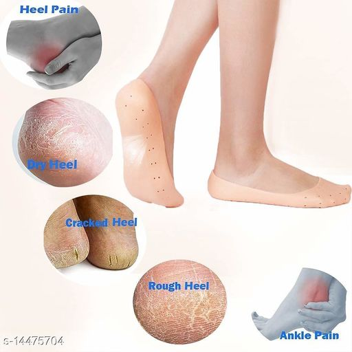 Anti Crack Full Length Silicone Foot Protector Moisturizing Socks for Foot-Care and Heel Cracks,socks for cracked feet