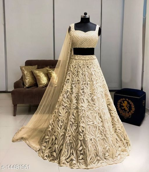 Heavy Net Embroidery Lehenga Choli
