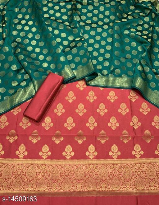Banarsi Silk Suit (23Peach)
