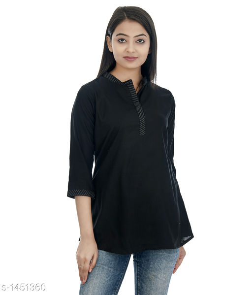 Kurtis & Kurtas Gorgeous Rayon Women's Short Kurti  *Fabric* Rayon  *Sleeves* 3/4 Sleeves Are Included  *Size* S - 36 in, M - 38 in, L - 40 in, XL - 42 in, XXL - 44 in  *Length* Up To  28 in  *Type* Stitched  *Description* It Has 1 Piece of Women's Short Kurti  *Pattern * Solid  *Sizes Available* XS, S, M, L, XL, XXL   Catalog Rating: ★4.2 (52) Supplier Rating: ★4.1 (748) SKU: DSC_0278_copy Shipping charges: Rs1 (Non-refundable) Pkt. Weight Range: 300  Catalog Name: Annabelle Gorgeous Rayon Zari work Womens Short Kurti Vol 2 - DOFORT Code: 043-1451360--144