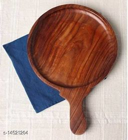Indian Wood Crafts Wooden Pizza Plate