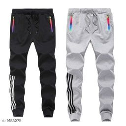 Men's Casual Solid Track Pants ( Pack Of 2)