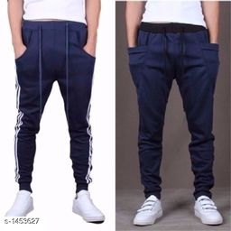 Men's Casual Solid Jogger (Pack Of 2)