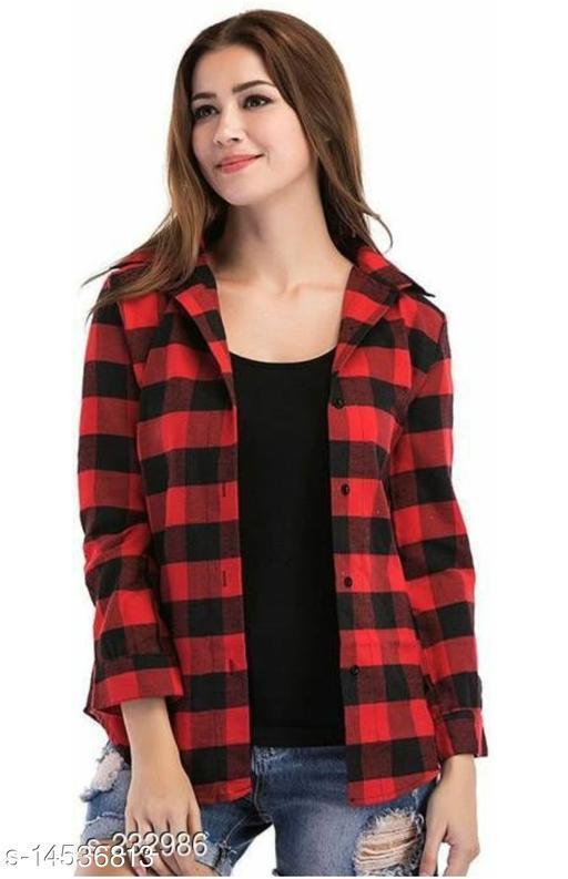 Latest Trendy Classy Cotton Checkered Shirt For Women's/ Girls