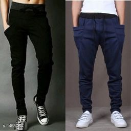 Men's Casual Solid Track Pant( Pack Of 2)