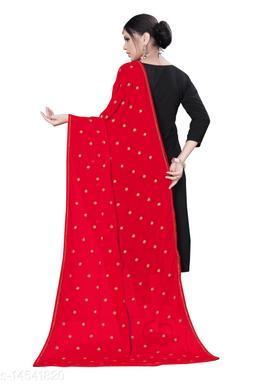 Chiffon Embroidered RED Women Dupatta