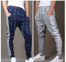 Men's Casual Solid Track Pant (Pack Of 2)