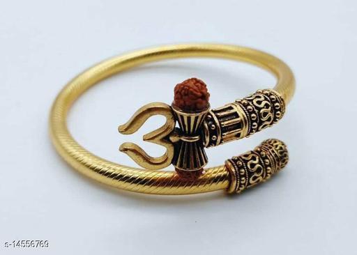 Trendy Men's Golden Trisul Rudraksha Rudraksha Bracelet