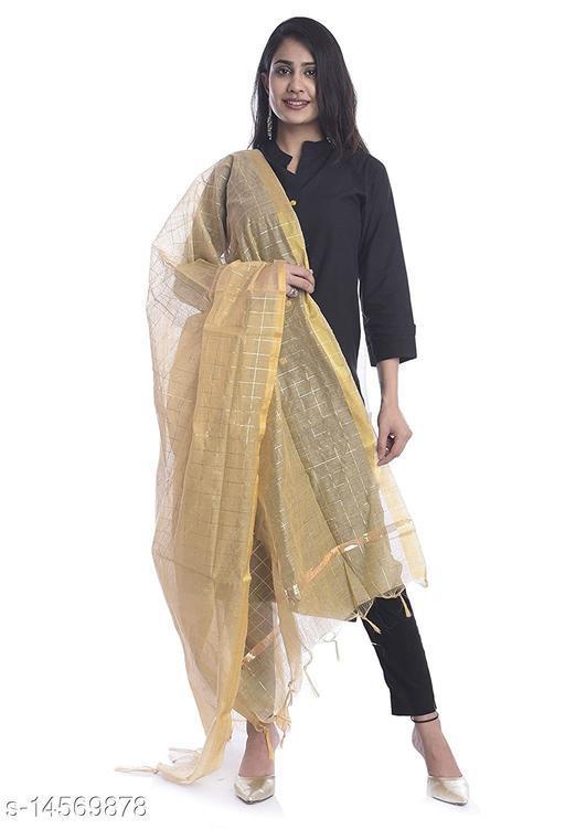 Chanderi Silk Dupatta Gold