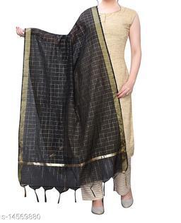 Chanderi Silk Dupatta Black