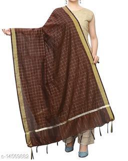 Chanderi Silk Dupatta Brown