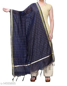 Chanderi Silk Dupatta Blue