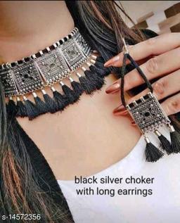 Afghani Oxidised Fancy Necklace Set for Women